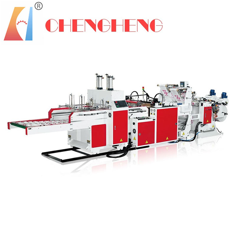 CH-ST-2 Full Automatic T-shirt Bag making machine two line